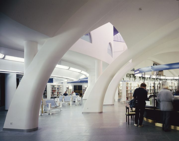 Lending hall, Tampere Main Library Metso