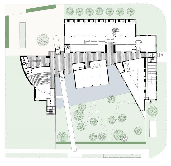 Plan, Raisio Library and Auditorium