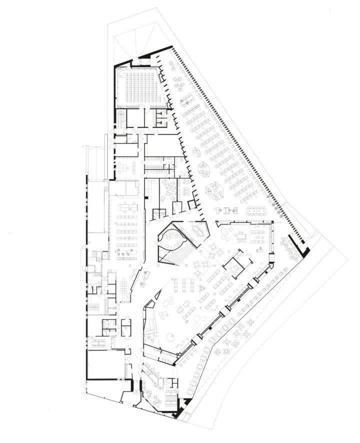 Ground floor, Kirkkonummi Main Library Fyyri