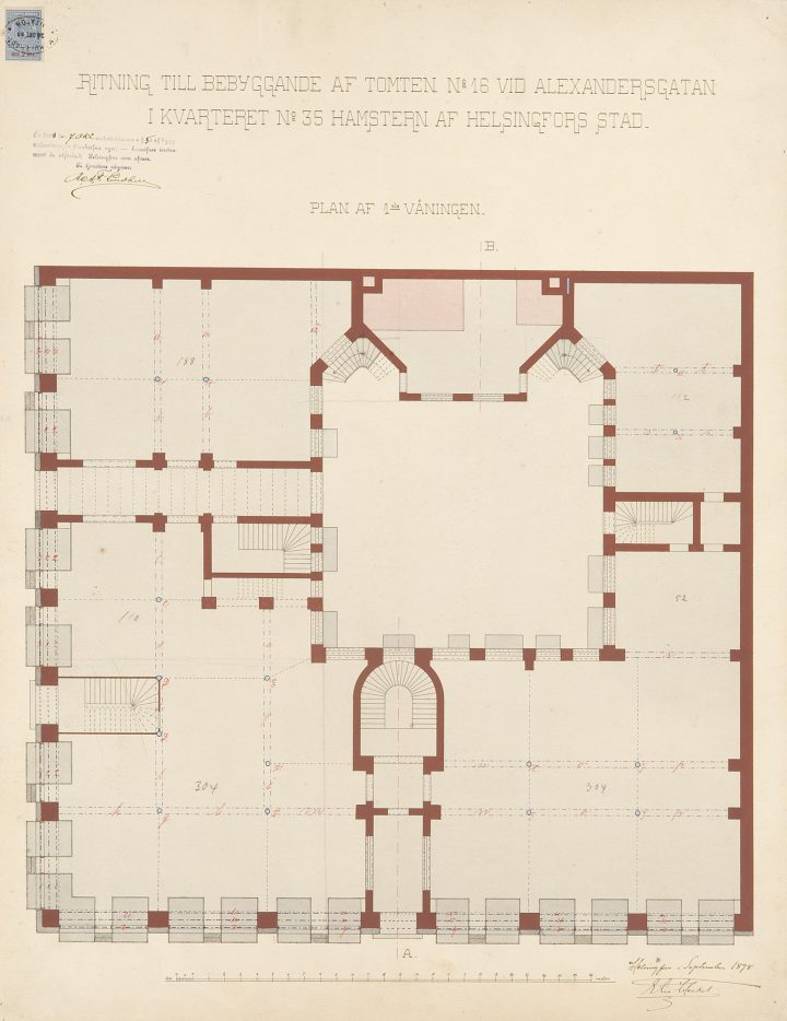 Floorplan, Lundqvist Commercial Building