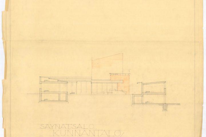 Section, Säynätsalo Town Hall