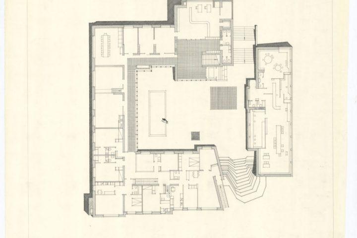 Floor plan, Säynätsalo Town Hall