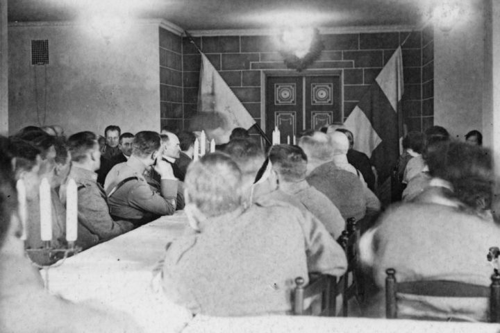 Photo of a meeting in 1929, The Seinäjoki Defence Corps Building