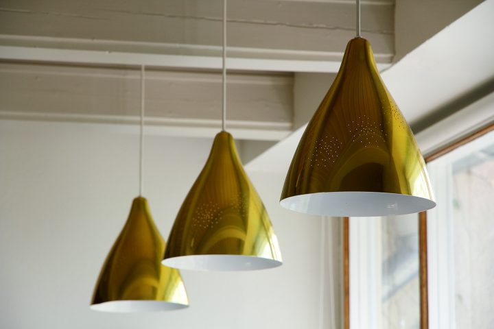 Lamps in the living room by Lisa Johansson-Pape, Villa Staffans