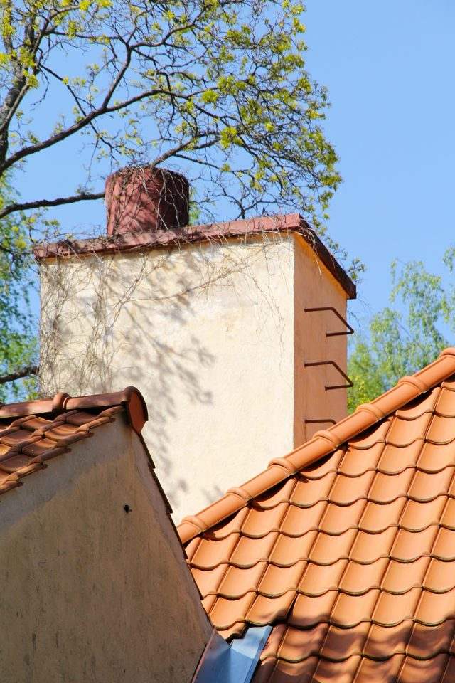 Roof and chimney detail, Villa Staffans