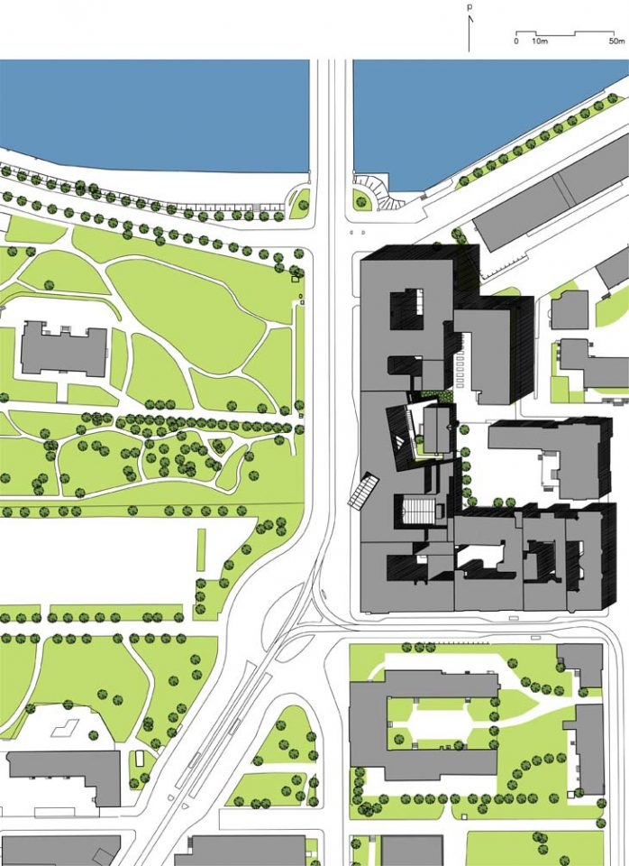 Site plan, Keva Pension Fund Office Building