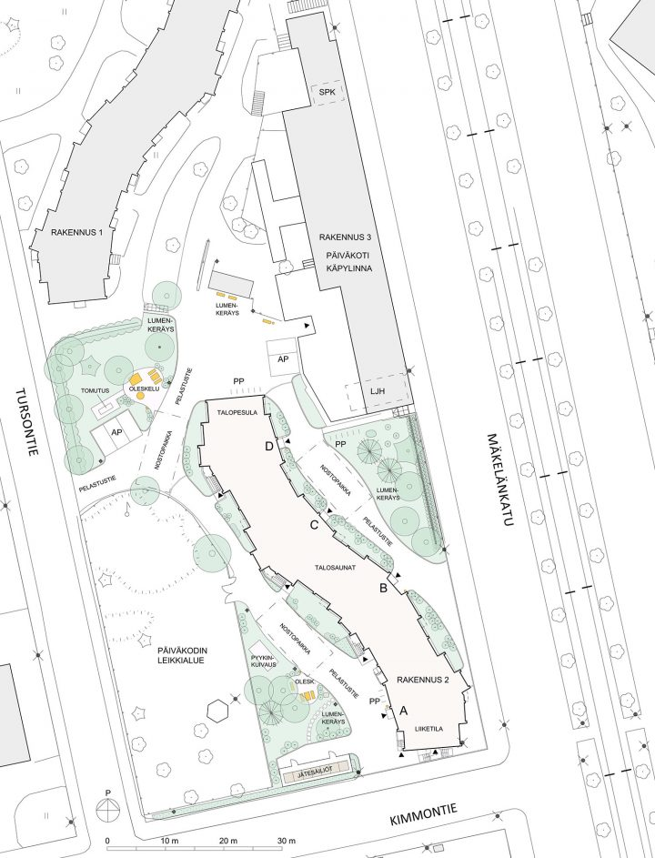 Site plan, Serpentine House