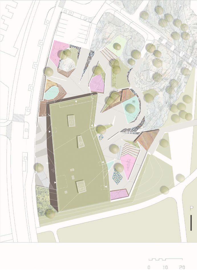 Site plan, Viikinmäki Community Centre
